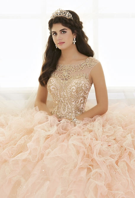 Photo of Model wearing a QuinceaÑera Collection Gown